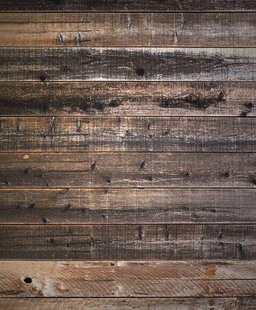 素朴な納屋風化木ノットと背景し、クギ穴