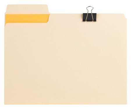 Manila folder with some documents in it.