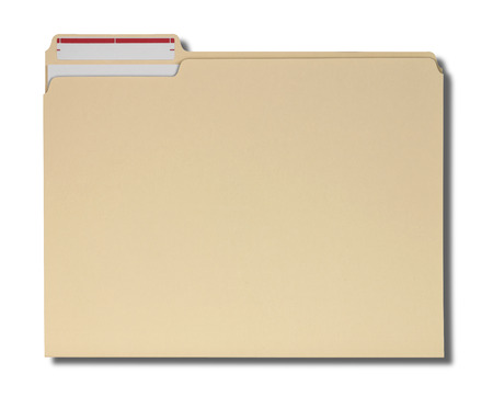 Manila folder with some documents in it.?