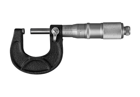 micrometer: Tool Maker Micrometer isolated on a white background