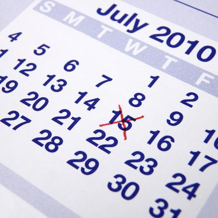 消されて日付カレンダー