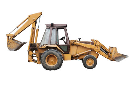 Front end loader isolated on a white background?