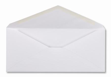 sobres de carta: Sobre aislado en un fondo blanco