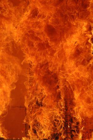 火災の炎のクローズ アップ