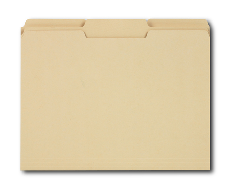 folder with documents: Manila folder with some documents in it.