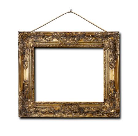 blank frame isolated on a white background? Stock fotó