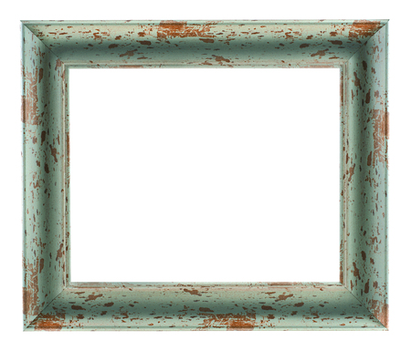 Old wooden rustic picture frame isolated on a white background?