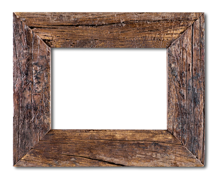 Old Wooden Frame isolated on a white background