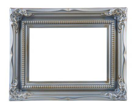 antiek zilver frame geïsoleerd op een witte achtergrond