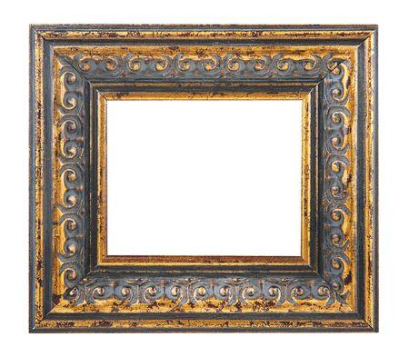 白い背景に分離されたゴールド額縁 写真素材 - 60651405