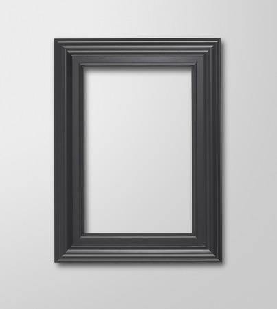 blank frame on a white gallery wall