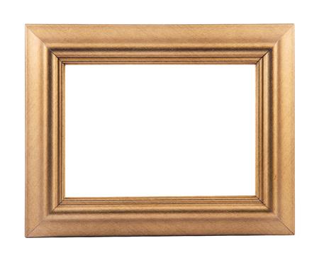 houten frame voor schilderij of afbeelding op witte achtergrond met uitknippad