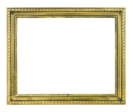 白い背景に分離された金の額縁 写真素材 - 60651413