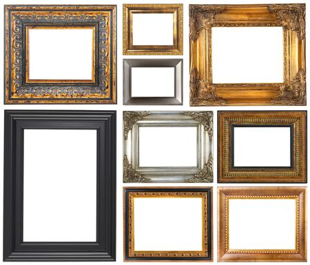 Antique frames isolated on a white background 스톡 콘텐츠