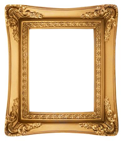 Gouden Picture Frame geïsoleerd op een witte achtergrond