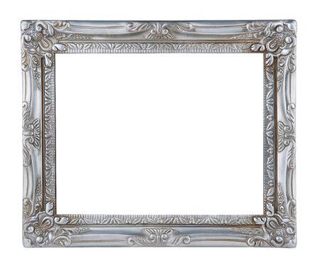 antieke zilveren frame geïsoleerd op witte achtergrond