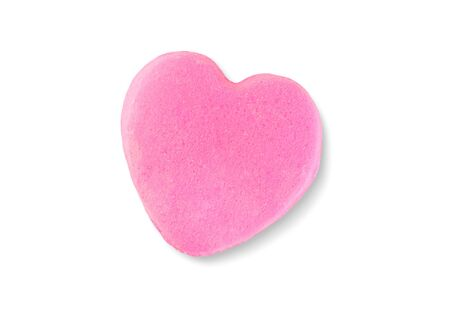 Valentines Day Candy Heart Isolated on White Background