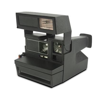 白い背景の上のインスタント フィルム カメラですか。 写真素材 - 64612069