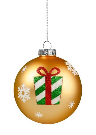 Gold Glitter Christmas Ball