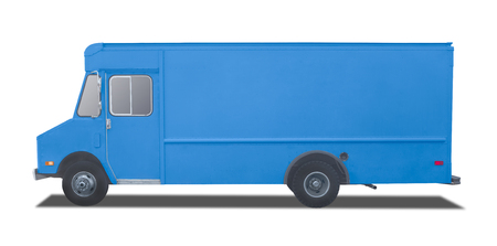 Delivery Truck on a white background Standard-Bild