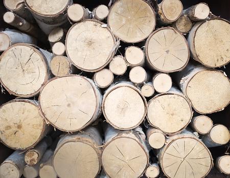 background stack of wood Standard-Bild
