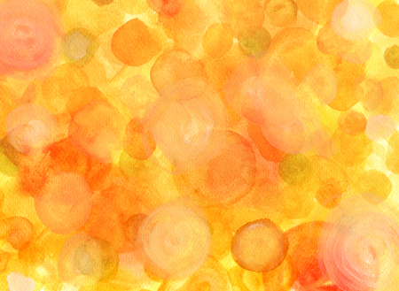 hues: Abstract watercolor background pattern with golden dots of various hues Stock Photo