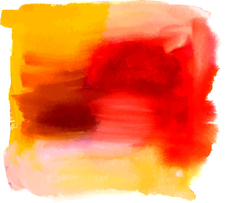 scalable: An abstract artistic bright yellow and red watercolor background texture with brush strokes. Scalable graphic