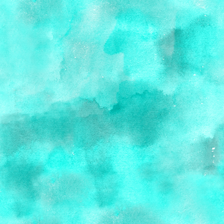Artistic teal blue watercolor background texture, seamless abstract pattern