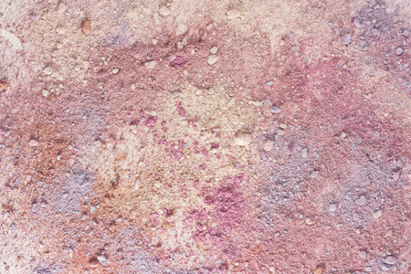 Abstract background texture with vibrant pink makeup powder, shot from above Stock Photo