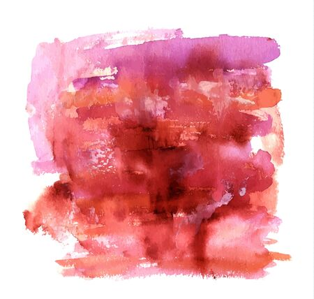 Vector abstract artistic brown, red and purple watercolor background texture with brush strokes Illustration