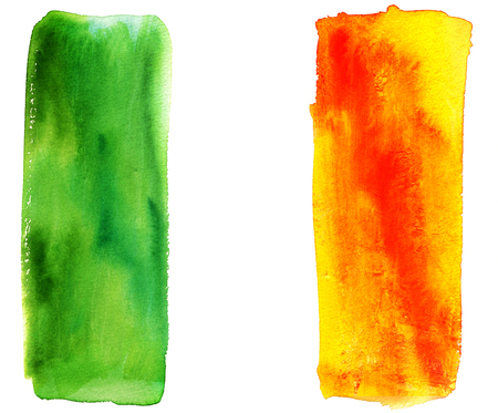irish flag: Abstract watercolor representation of the Irish flag Stock Photo