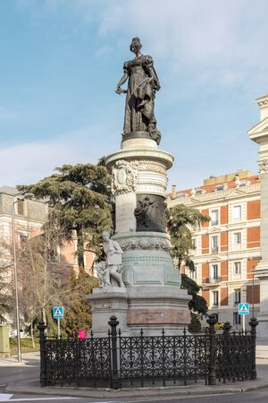 regent: Monument to queen Maria Christina of the Two Sicilies Editorial