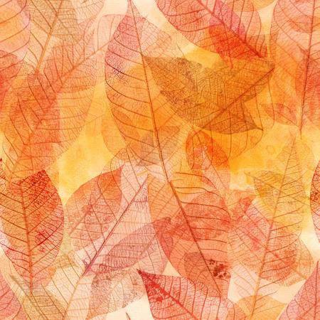 lightweight: Seamless background pattern of golden skeleton leaves