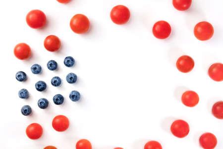 Kulinarisches Stillleben In Farben Der Amerikanischen Flagge, Auf ...
