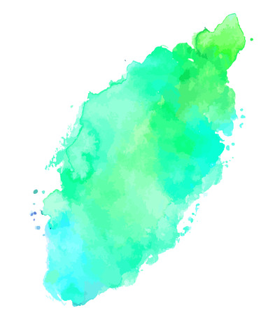 Artistic vector watercolor teal background texture with brushstr