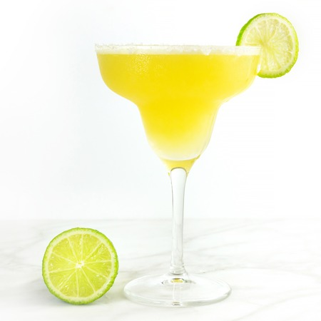 Lemon Margarita cocktail with a place for text Stock Photo