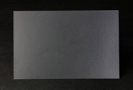 businesscard: Blank black business card for copy space on dark background