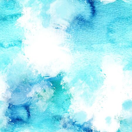 Seamless artistic teal background texture Stock Photo