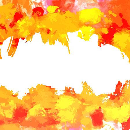 mixed media: Vector background with red and yellow brush strokes