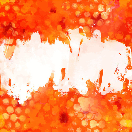 brushstroke: Red and yellow vector background texture with copy space
