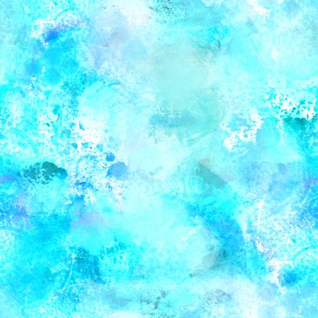 Seamless turquoise blue watercolor repeat print 写真素材