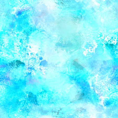 Seamless turquoise blue watercolor repeat print Stockfoto