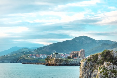 View over Castro Urdiales, city in Cantabria, Spain Stock Photo