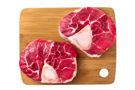 Osso buco cuts, isolated on a white background