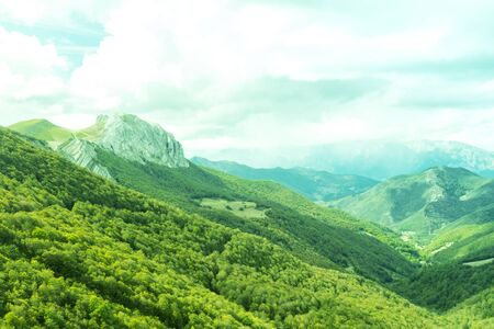 Picos de Europa mountains in the north of Spain Stock Photo