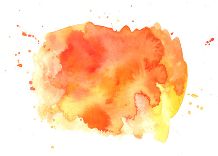 Abstract artistic vibrant orange watercolor background texture
