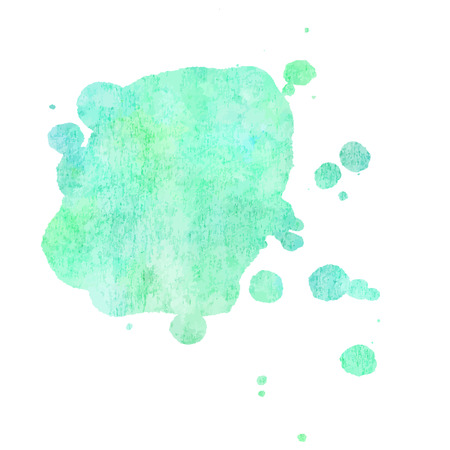 Vector abstract artistic vibrant teal watercolor background texture with copy space