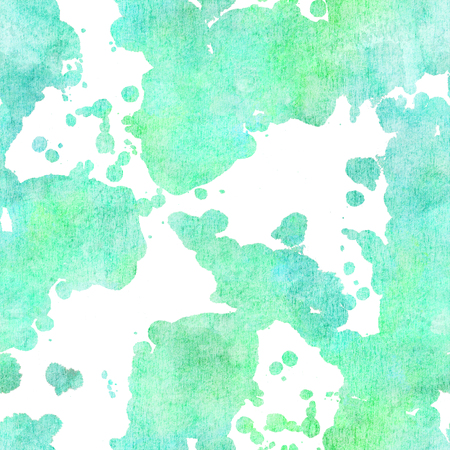 Seamless abstract background pattern with splashes of teal paint