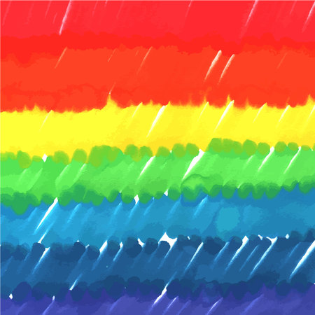 An abstract vector background texture in rainbow colours, drawn with marker pens