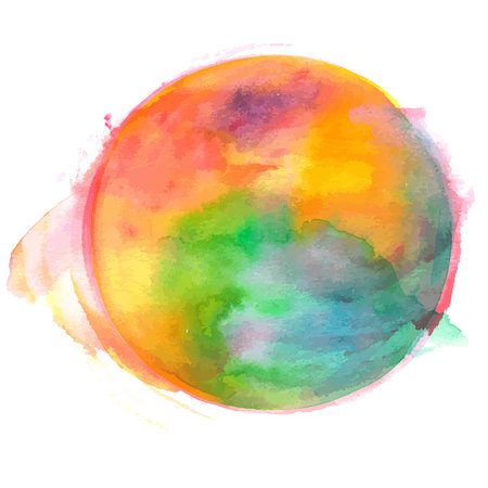 An abstract artistic colorful watercolor background texture, vector drawing with a place for text 向量圖像